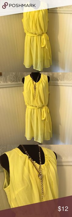 Emma Michele ~ Dress Fun and flirty yellow dress. Only worn once. Emma Michele Dresses Midi