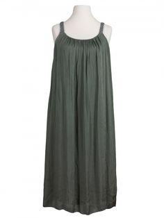 Damen Trägerkleid mit Seide, khaki von Diana bei www.meinkleidchen.de