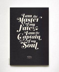 Encouraging Vintage Typography Prints - My Modern Met Vintage Typography, Typography Prints, The Words, Invictus Poem, Typography Inspiration, Tattoo Inspiration, Life Inspiration, Motivation Inspiration, Motivational Quotes