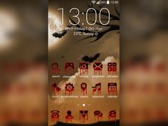 This year celebrate #Halloween in a very original way with the awesome Halloween Theme. Dress up your #gadget with bloody #icons and spooky bats and get ready for the Halloween party. Have fun!