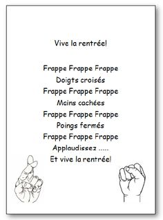 Comptine Vive la rentrée en version imprimable illustrée. Retrouvez d'autres chansons, comptines et poésies en musique et en images French Teaching Resources, Teaching French, Teaching Tools, French Poems, Core French, Autumn Activities For Kids, Preschool Writing, French Classroom, French Teacher