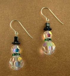 crystal snowmen. direct link is: http://www.harlequinbeads.com/page_3985_3722/crystal-snowman-earrings-kit They also have a version with pearls and crystals on the website.