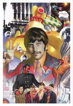 See Comic Book Artist Alex Ross' Official Beatles Artwork/Ringo Starr Les Beatles, Beatles Art, Beatles Photos, Alex Ross, Ringo Starr, Comic Book Artists, Comic Books, Yellow Submarine Art, Rock And Roll