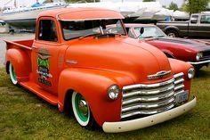 Chevrolet Trucks, Cool Trucks, Chevy Trucks, Pickup Trucks, Antique Cars, Automobile, Cool Stuff, Vehicles, Orange