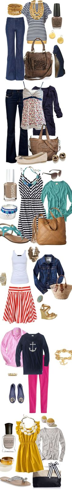 Nautical Spring Fashion 2013 at www.honeybearlane.com #spring #fashion