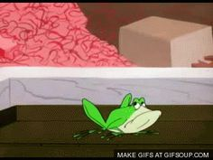"michigan-j-frog-o.gif 1955 Looney Tunes' ""One Froggy Evening"". One of the funniest cartoons ever!"