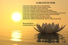 Citations de Nicole | Nicole Bordeleau Miracle Morning, Positive Life, Positive Affirmations, Meditation, Positivity, Celestial, Movie Posters, Image, Inspirer