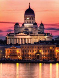 Tramonto su  Helsinkin