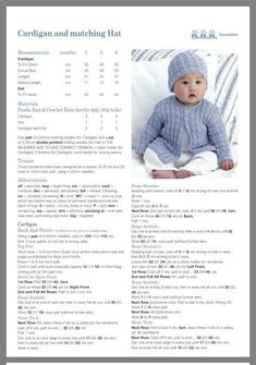 """Knitting Pattern for Baby/'s Cardigan /& pull-Taille 14-22/"""" /& prématuré"""