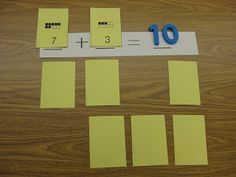 Addition Concentration Game ~ One of my students' favorite ways to practice math facts!