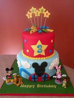 Mickey Mouse Clubhouse Cake...maybe for Owen's 2nd Birthday!!!