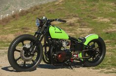 "Based on a Kawasaki KZ440-A LTD, this bike was converted to a bobber that's inspired by motocrosser Ryan Villopoto by someone who works at K&N. Named the ""Lunchbox Special"" because the builder worked on it during his lunch breaks at work, the bike won Editor's Choice at the Ultimate Builder Custom Bike Show at the Progressive International Show in Long ..."