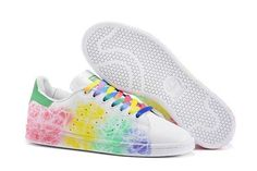 quality design 0f036 961f3 Latest Adidas Women Casual Shoes 2016 Superstar Smith Leather rainbow white Chaussures  Confortables, Belle Chaussure