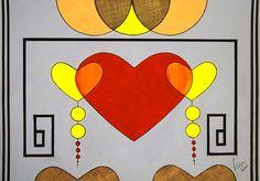 Tríade de carnaval - acrílica e nanquim, 594 x 420mm