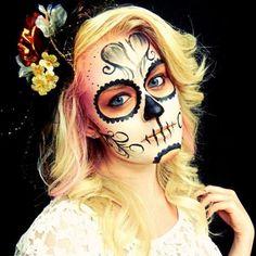 Sugar Skull, Day of the Dead | http://paintbodyideas335.blogspot.com