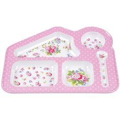 Make meal times fun with this Spray Flowers food tray! It's made from durable melamine and is an ideal way to keep foods separate.