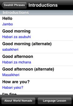 currently learning swahili, this looks helpful