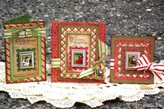 Design Team work for Graphic 45 using their Christmas Emporium Collection  ...Wendy Schultz onto Graphic 45 Card's.