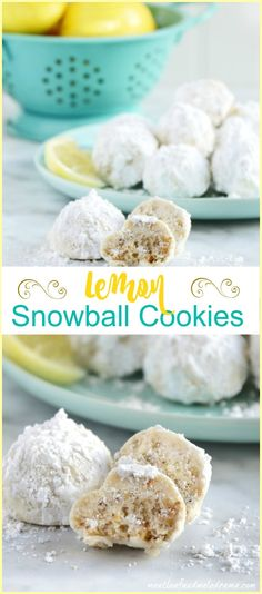 Lemon Snowball Cookies. Just like Russian Tea Cakes or Mexican Wedding cookies, these are filled with lemon flavor and are so refreshing!