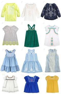 Little girl embroidered clothes spring summer 2014 / Prendas bordadas tendencia moda infantil primavera verano 2014