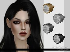 Monroe Piercing by Leah Lillith at TSR via Sims 4 Updates