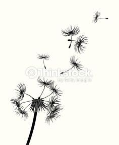 dandelion silhouette images - Google Search