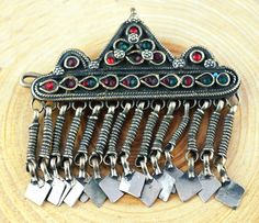 Kuchi Tribal Hair Clips,Afghan Hair Clips,Gypsy Hair Barrette,Boho Barrette,Ethnic Hair Accessories,Tribal Afghan Jewelry,Free Shipping by ZsTribalTreasures on Etsy