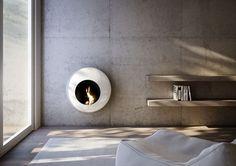 Modern Wall-Mounted Fireplace