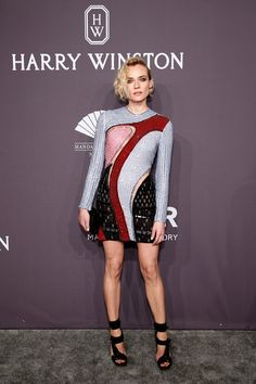 Diane Kruger Strappy Sandals - Diane Kruger continued the edgy-chic vibe with a pair of black broad-strap heels.