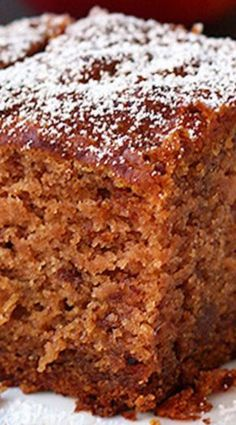 Amazing Applesauce Cake ~ This applesauce cake is so simple to make and wonderfully good. It's gluten free AND vegan. This applesauce cake makes a great treat. ** CLICK PIN TO LEARN MORE! Apple Recipes, Baking Recipes, Sweet Recipes, Cake Recipes, Dessert Recipes, Applesauce Recipes, Applesauce Cake Recipe, Baking With Applesauce, Gluten Free Recipes