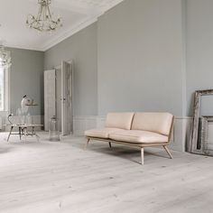 Greek Interior Design - Costis Psychas - ELLE DECOR interiors of paper and things: design White Floorboards, White Washed Floors, White Hardwood Floors, White Laminate Flooring, Elle Decor, Living Spaces, Living Room, Grey Walls, Furniture Design