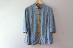 Vintage Blue Detail Blouse