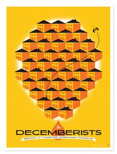 The Heads of State - Decemberists Los Angeles Poster
