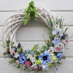 Willow Wreath, Grapevine Wreath, Dyi Crafts, Crafts To Do, Easter Wreaths, Holiday Wreaths, Christmas Knomes, Diy Wreath, Spring Crafts