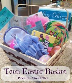 Creative easter baskets creative gift baskets easter baskets homemade easter basket ideas pinch this stretch that negle Gallery