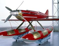 The Macchi-Castoldi M.C.72 was designed by Mario Castoldi for Aeronautica Macchi. It was a single-place, single-engine, low-wing monoplane float plane constructed of wood and metal. It was 8.32 meters (27 feet, 3.5 inches) long with a wingspan of 9.48 meters (31 feet, 1.25 inches) and height of 3.30 meters (10.83 feet). The M.C.72 had an empty weight of 2,505 kilograms (5,512 pounds), loaded weight of 2,907 kilograms (6,409 pounds) and maximum takeoff weight of 3,031 kilograms (6,669…