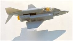 "Proteus - ""transformobile"" toy set - 3. Jet plane. Created by romanian designer Catalin Urcan for ""Viitorul"" Enterprise (now, Plastor) - city Oradea, Romania in 1985-1988"