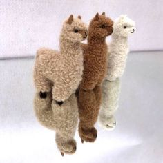 Miniature Hand Crafted Alpaca Toys