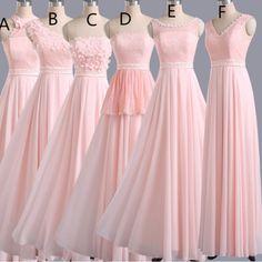 Hot Sales Bridesmaid Dress,Long Bridesmaid Dress ,Pink Bridesmaid Dress,Pretty Bridesmaid sold by Alisa Dress. Pink Bridesmaid Dresses Long, Prom Dresses, Pastel Pink Dresses, Chiffon Dresses, Wedding Dresses, Simple Prom Dress, Dress Long, Hot Dress, Dress Formal