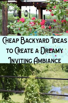 11 Cheap Backyard Ideas to Create a Dreamy Inviting Ambiance - Check out these simple, cheap ideas that make a big impact to your backyard. Create a dreamy, inviting ambiance everyone can enjoy all spring and summer on Chemistry Cachet Backyard Ideas For Small Yards, Small Backyard Design, Small Backyard Landscaping, Backyard Fences, Cozy Backyard, Fence Garden, Backyard Designs, Landscaping Ideas, Diy Garden Projects