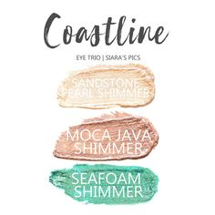 Coastline Eye Trio uses three SeneGence ShadowSense : LE Seafoam Shimmer, Sandstone Pearl Shimmer and Moca Java Shimmer. These creme to powder eyeshadows will last ALL DAY on your eye. #shadowsense #trio #shadowsensetrio #eyeshadow #cocoa