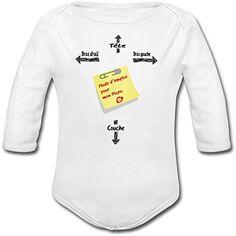 6cb415e16bb4f Yonacrea - Body Bébé Manches Longues - Mode d emploi pour Papa - Humour -  12 Mois  Amazon.fr  Vêtements et accessoires