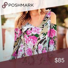 boston proper blouse nwt rose and camu pattern Boston Proper Tops Blouses