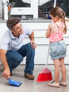 It's about that time: spring cleaning. While it's great to dig in deep for a serious clean you don't get on a daily basis, it can be tiring if you're doing it on your own. For parents, getting kids in on the spring cleaning tasks can not only make it easier, but also teach them how to keep things clean in the future. Check out these four simple ways to get your kids involved. #springcleaning #parenting #kids