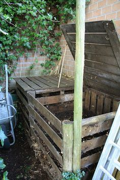 This is how our compost should look, but seems it could raided by rodents. rustic garden, compost bin