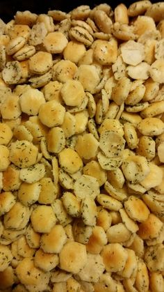 Seasoned oyster crackers Recipe by Tami Dill Oyster Cracker Recipe, Oyster Cracker Snack, Seasoned Oyster Crackers, Ranch Oyster Crackers, Snack Mix Recipes, Appetizer Recipes, Cooking Recipes, Appetizers, Snack Mixes