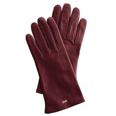Women's Italian Leather Classic Gloves, Jewel-Toned...love the oxblood and brown colors!