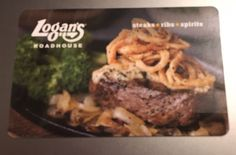 $25 LOGAN'S ROADHOUSE GIFT CARD This is a gift card with magnetic stripe, not a paper gift certificate. Card has $25 loaded on it, never used. Receive... #free #shipping #card #gift #roadhouse #logans