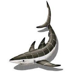 Shark, Porc w/Shadow | PORC-SK36/SH | Pool Mosaic