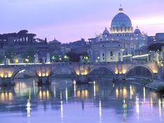 オールポスターズの ウォルター・ビビコウ「St. Peter's and Ponte Sant Angelo, The Vatican, Rome, Italy」写真プリント